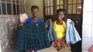 school uniforms donated by lebanon catholic school