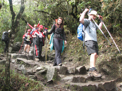 Inca Trail with hikers