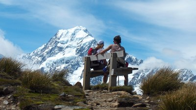 sealy tarns view to aoraki mt cook